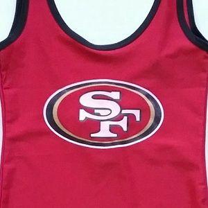 NFL Swim - NFL San Francisco 49ers Football Red Bodysuit NWT